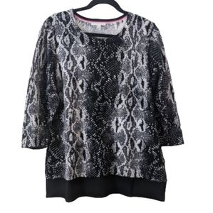 Isaac Missouri Live Snake Print Sweater Medium